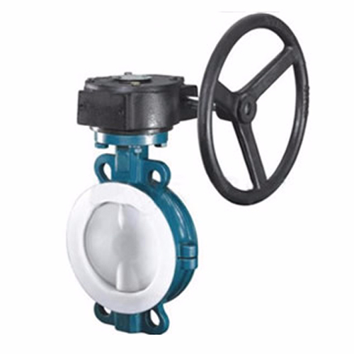 D371F46 worm gear pair clamp-type fluorine-lined butterfly valve
