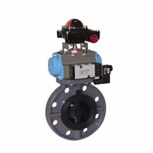 D671S-10 Pneumatic Plastic Butterfly Valve