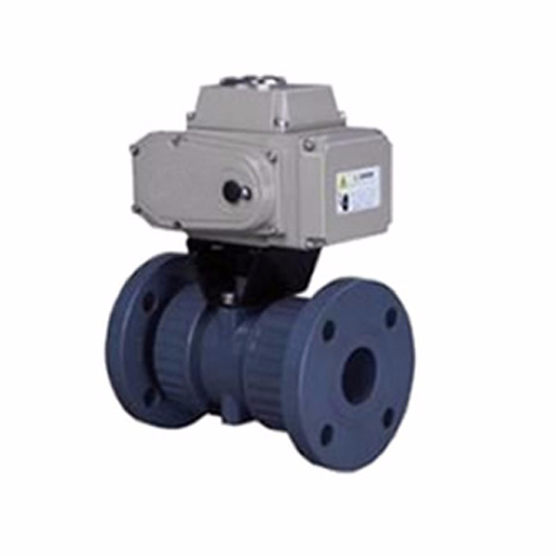 Q941F-10S Flanged Plastic Electric Ball Valve